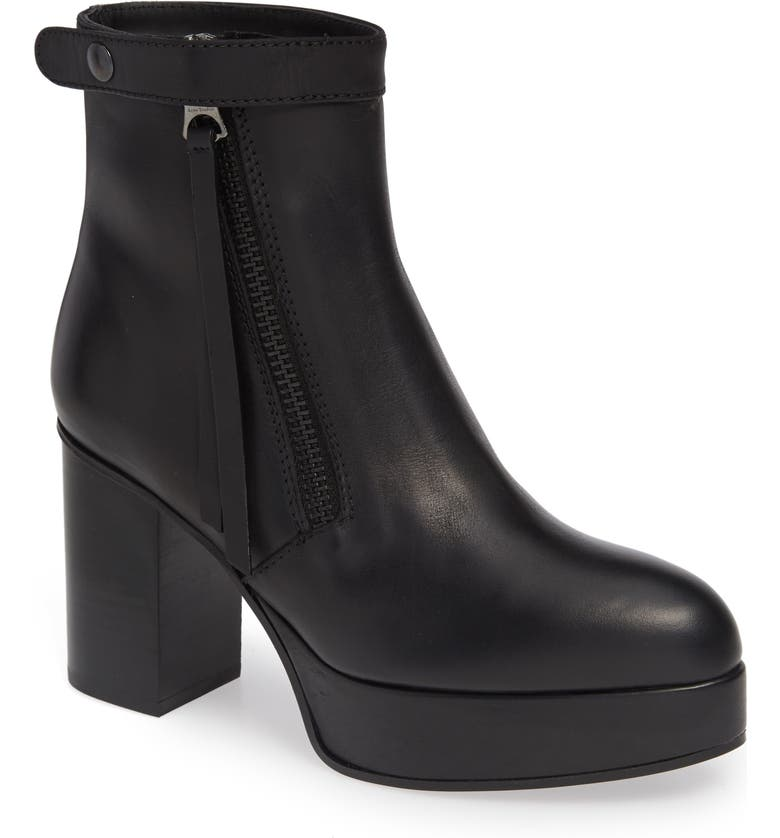 ACNE STUDIOS Platform Bootie, Main, color, BLACK