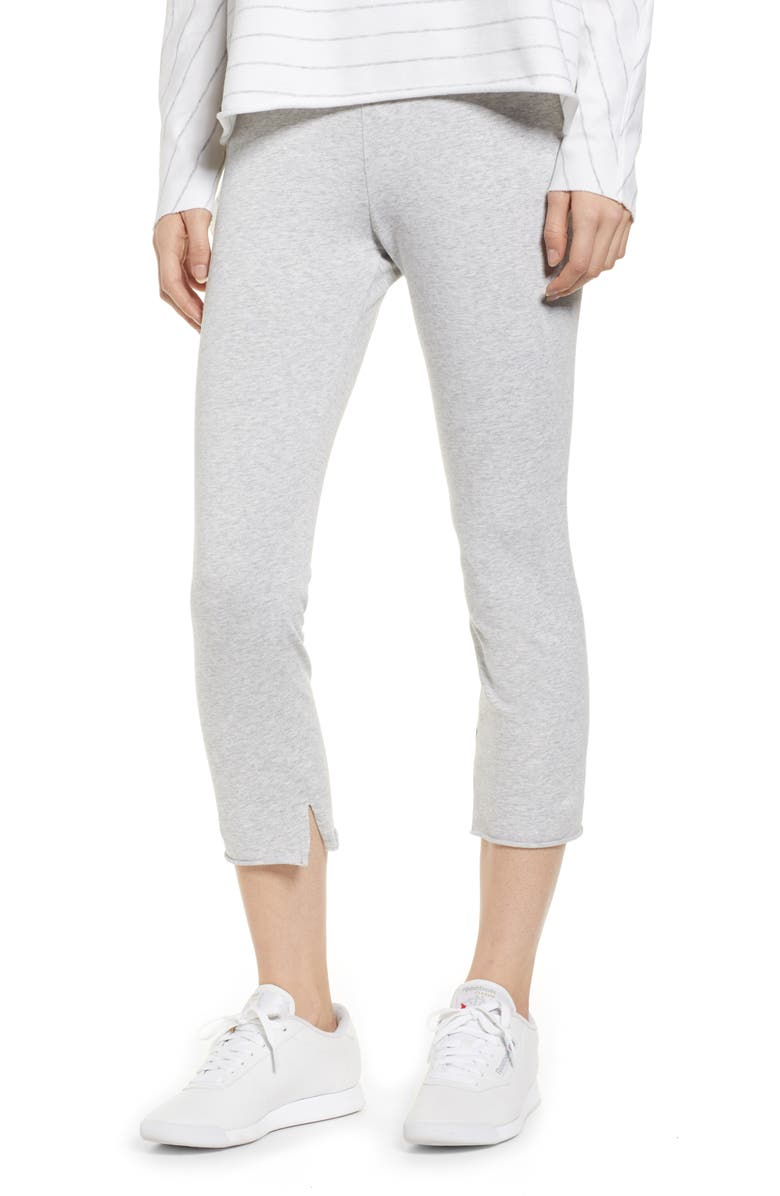 FRANK & EILEEN Tee Lab Crop Leggings, Main, color, GRAY MELANGE