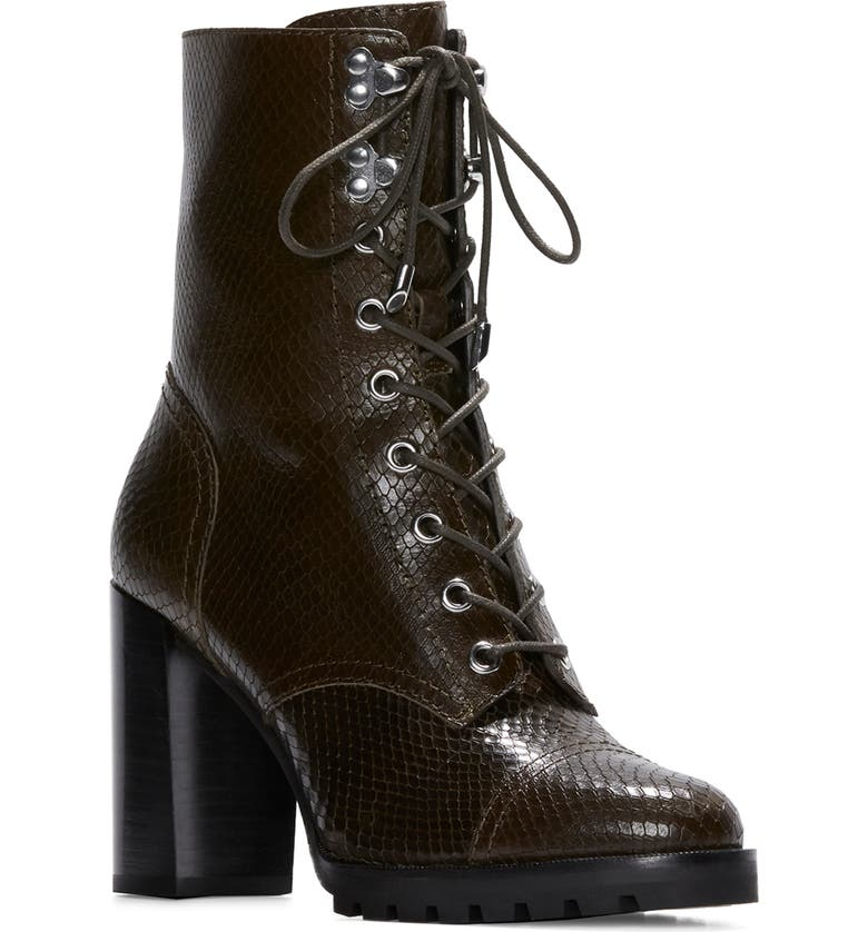PAIGE Naomi Lace Up Bootie, Main, color, ARMY