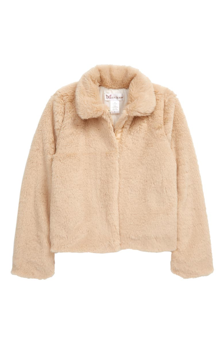 COTTON EMPORIUM Faux Fur Jacket, Main, color, 201