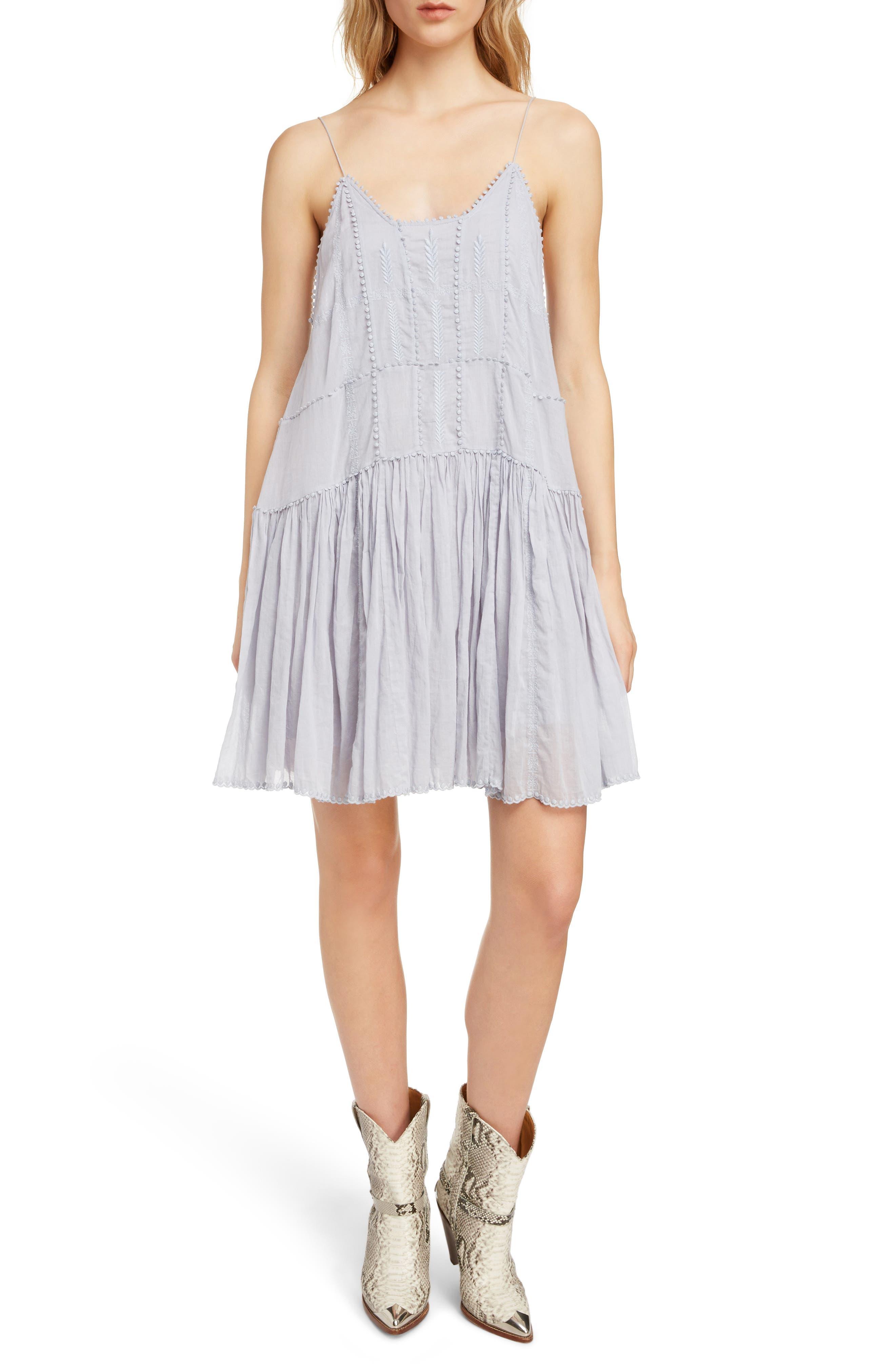 Isabel Marant Etoile Amelie Drop Waist Dress, 6 FR - Blue