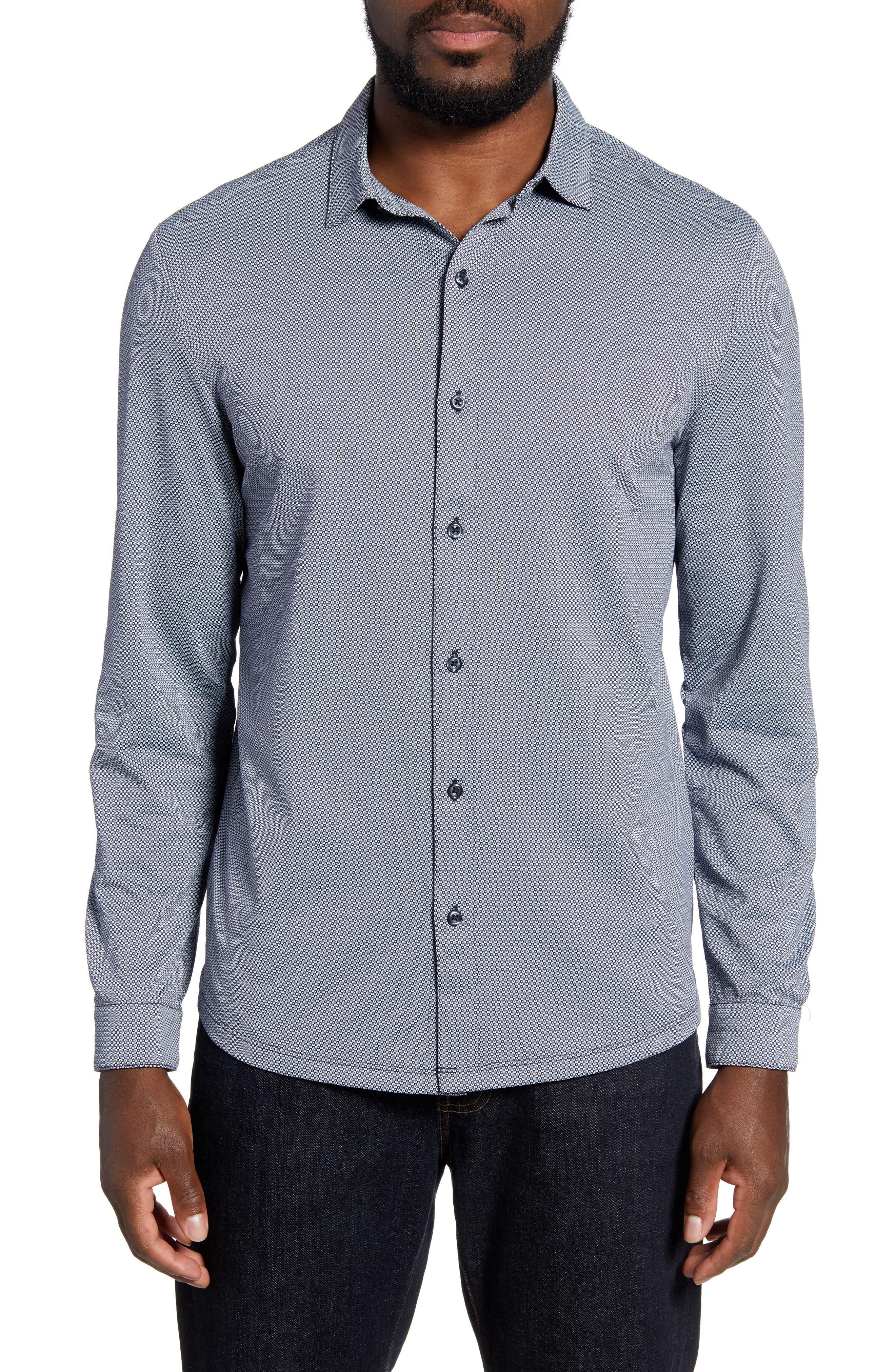 Kinglsey Falls Knit Button Up Shirt by Robert Barakett