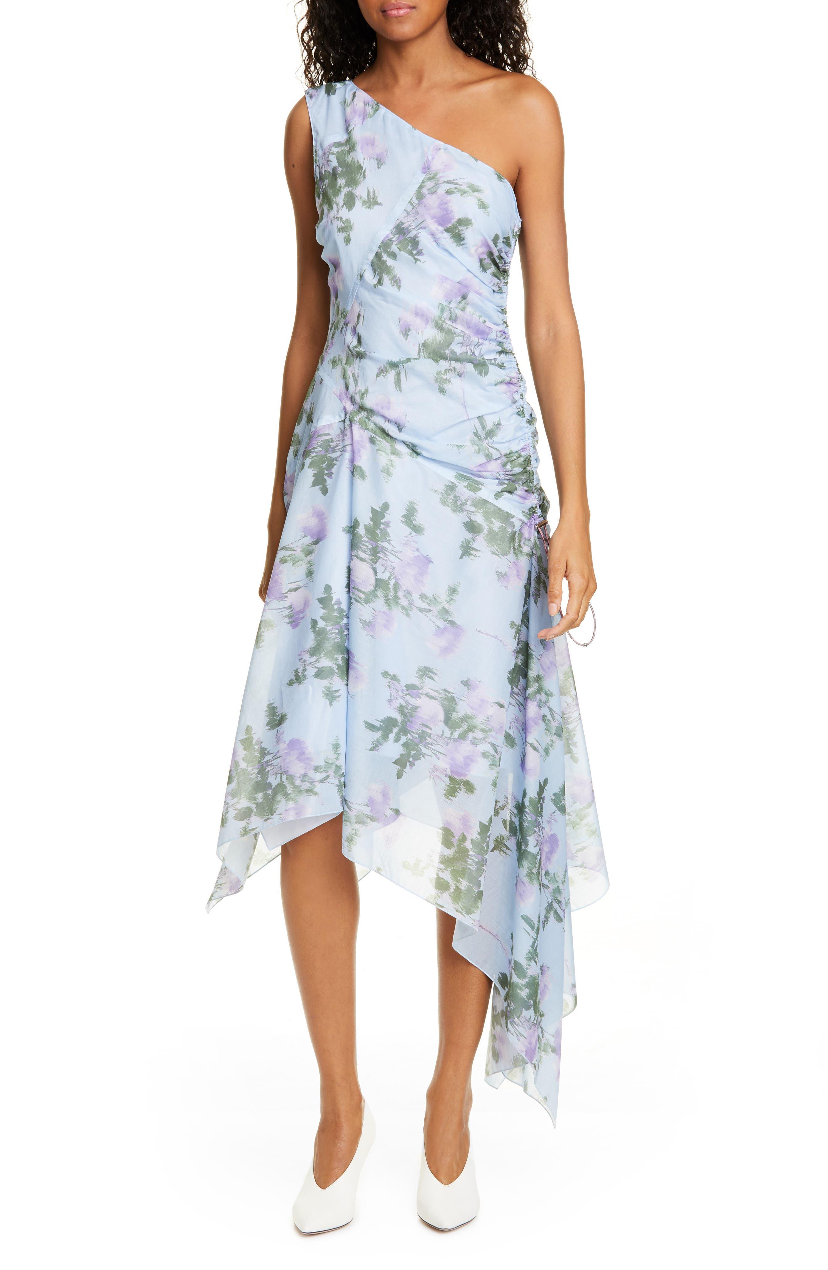 Hugo Kifari One-Shoulder Asymmetrical Dress, Blue