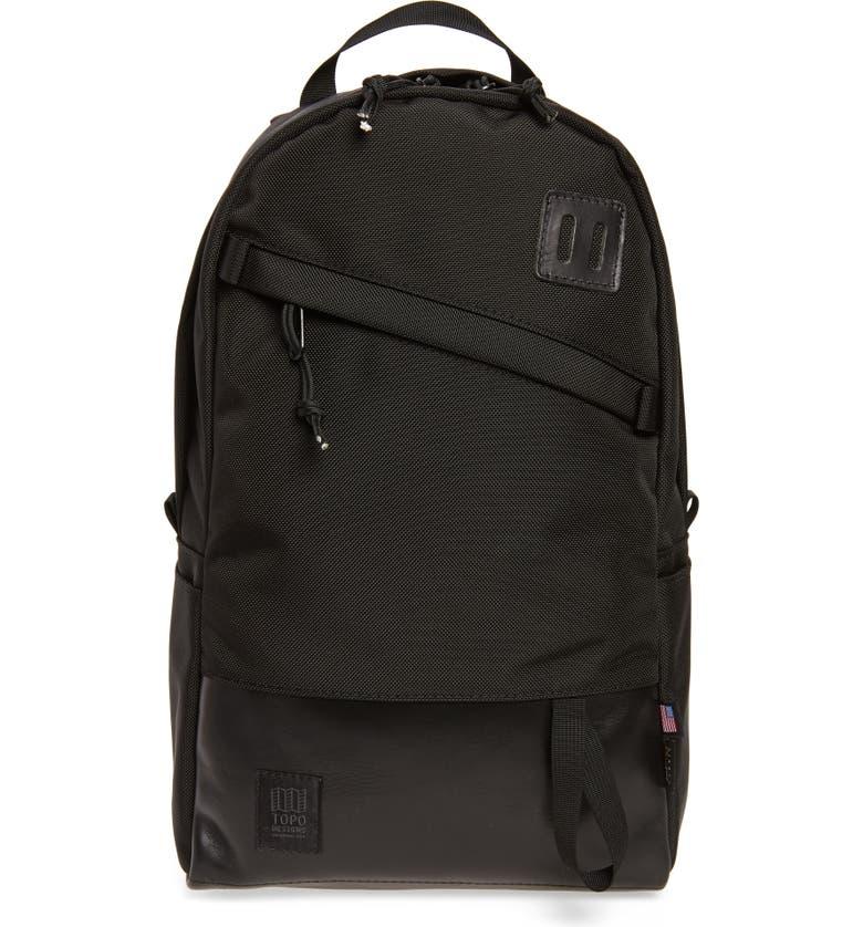 TOPO DESIGNS Daypack, Main, color, BALLISTIC BLACK/ BLACK