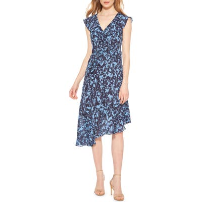 Parker Brynlee Asymmetrical Ruffle Dress, Blue