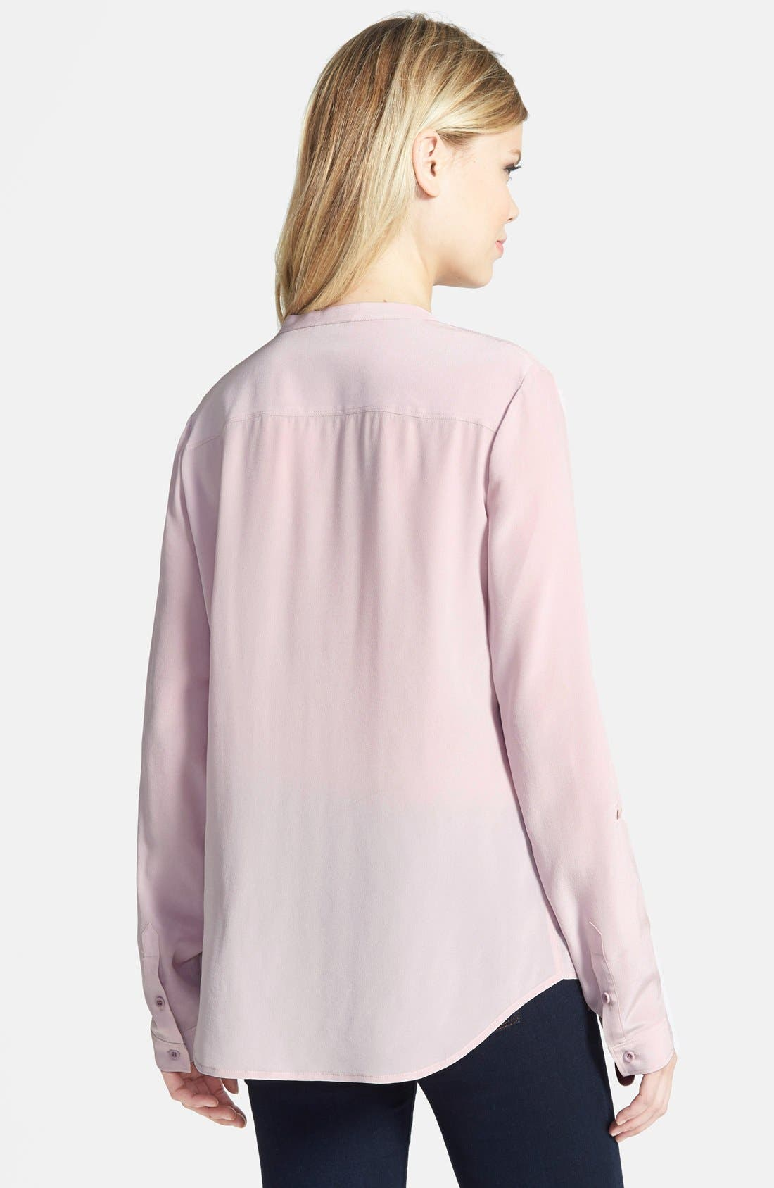 ,                             Collarless Silk Blouse,                             Alternate thumbnail 80, color,                             680