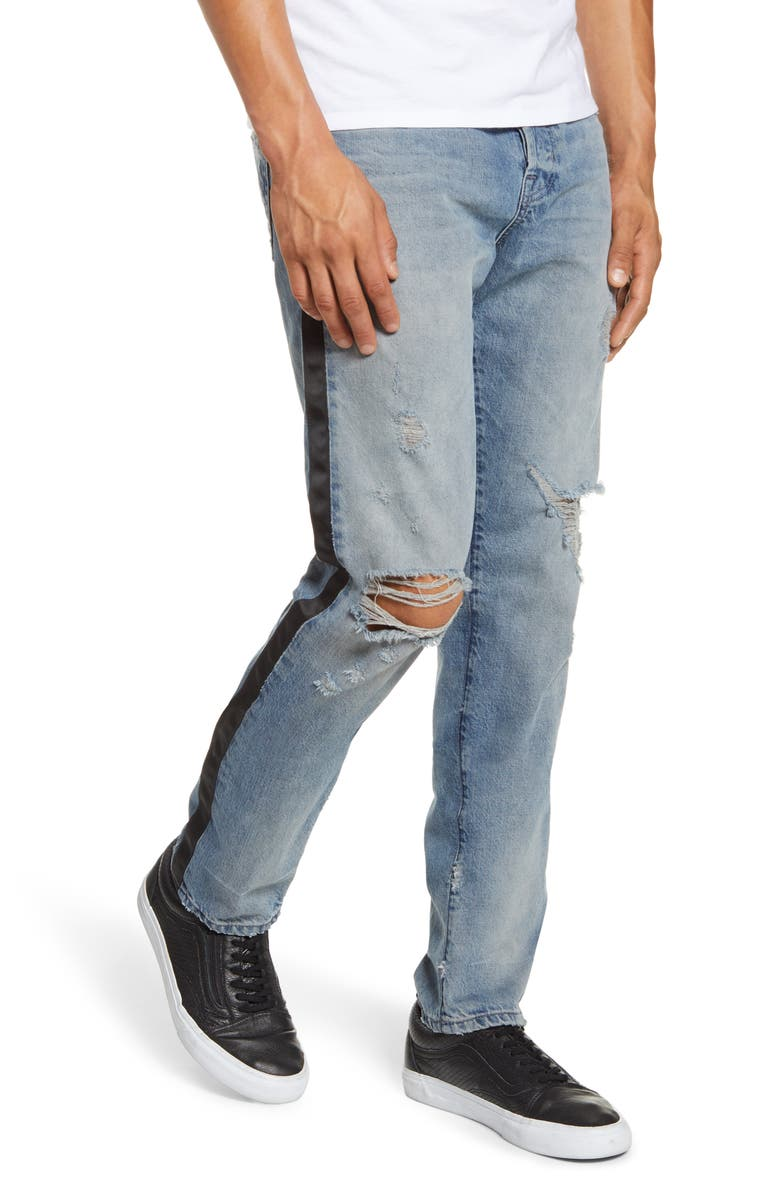 AG Dylan Satin Side Skinny Fit Jeans, Main, color, 22 YEARS DIRECTOR