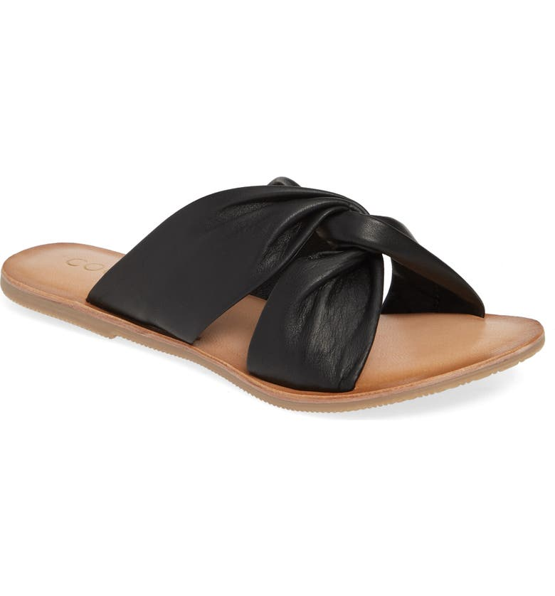 COCONUTS BY MATISSE Mirage Slide Sandal, Main, color, BLACK LEATHER