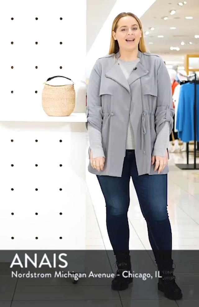 Pot de Miel Top Handle Straw Basket Bag, sales video thumbnail