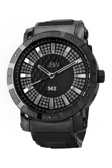 "Image of JBW Men's ""562"" Diamond Watch, 50mm - 0.12 ctw"