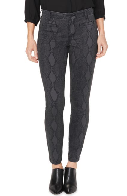 Image of NYDJ Ami High Waisted Printed Ankle Skinny Jeans