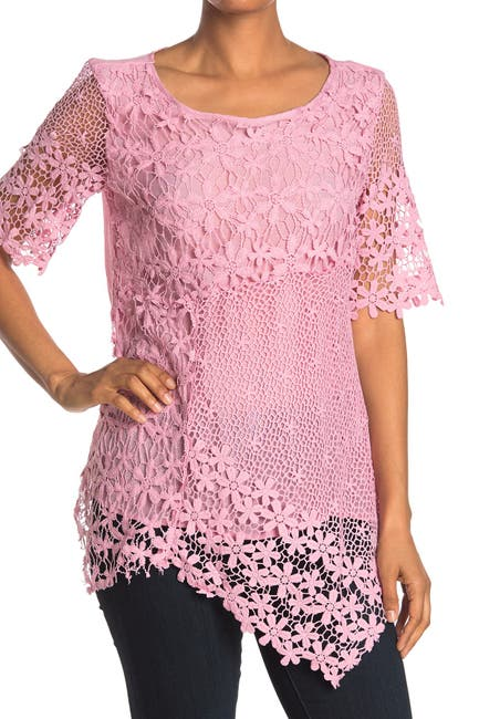 Image of Forgotten Grace Patchwork Lace Scoop Neck Tunic