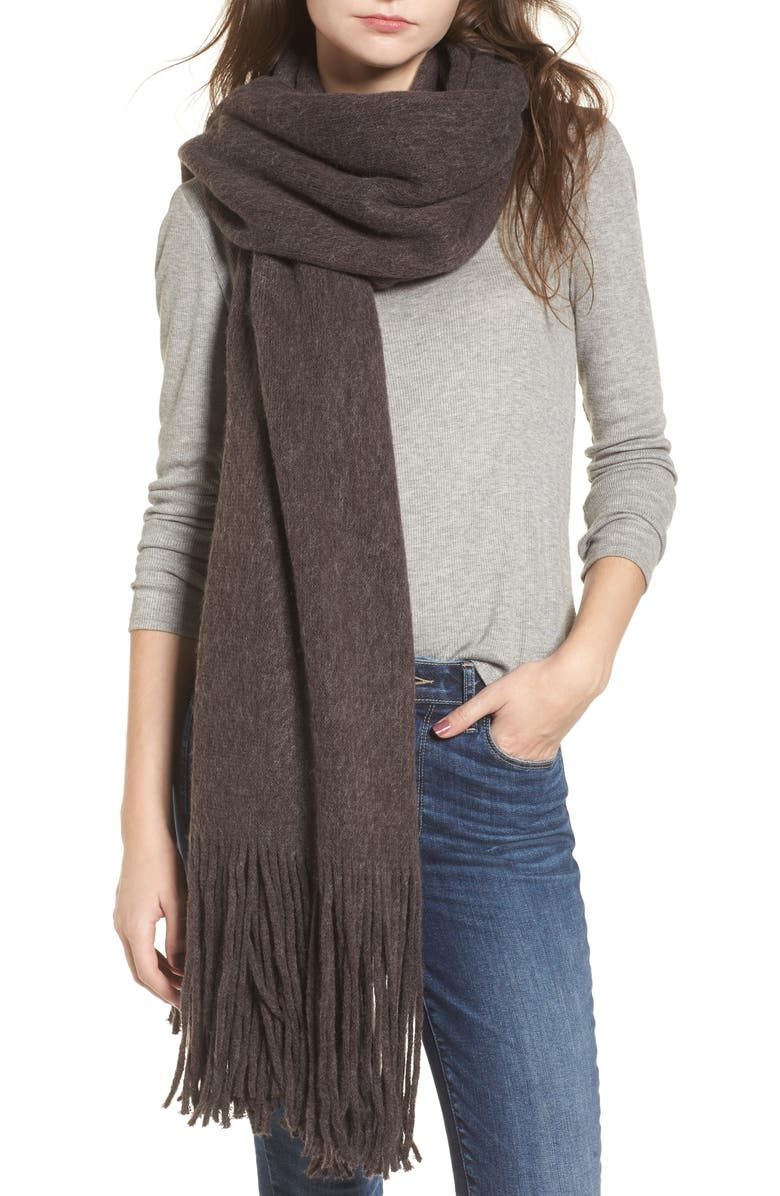 FREE PEOPLE Kolby Brushed Scarf, Main, color, 021