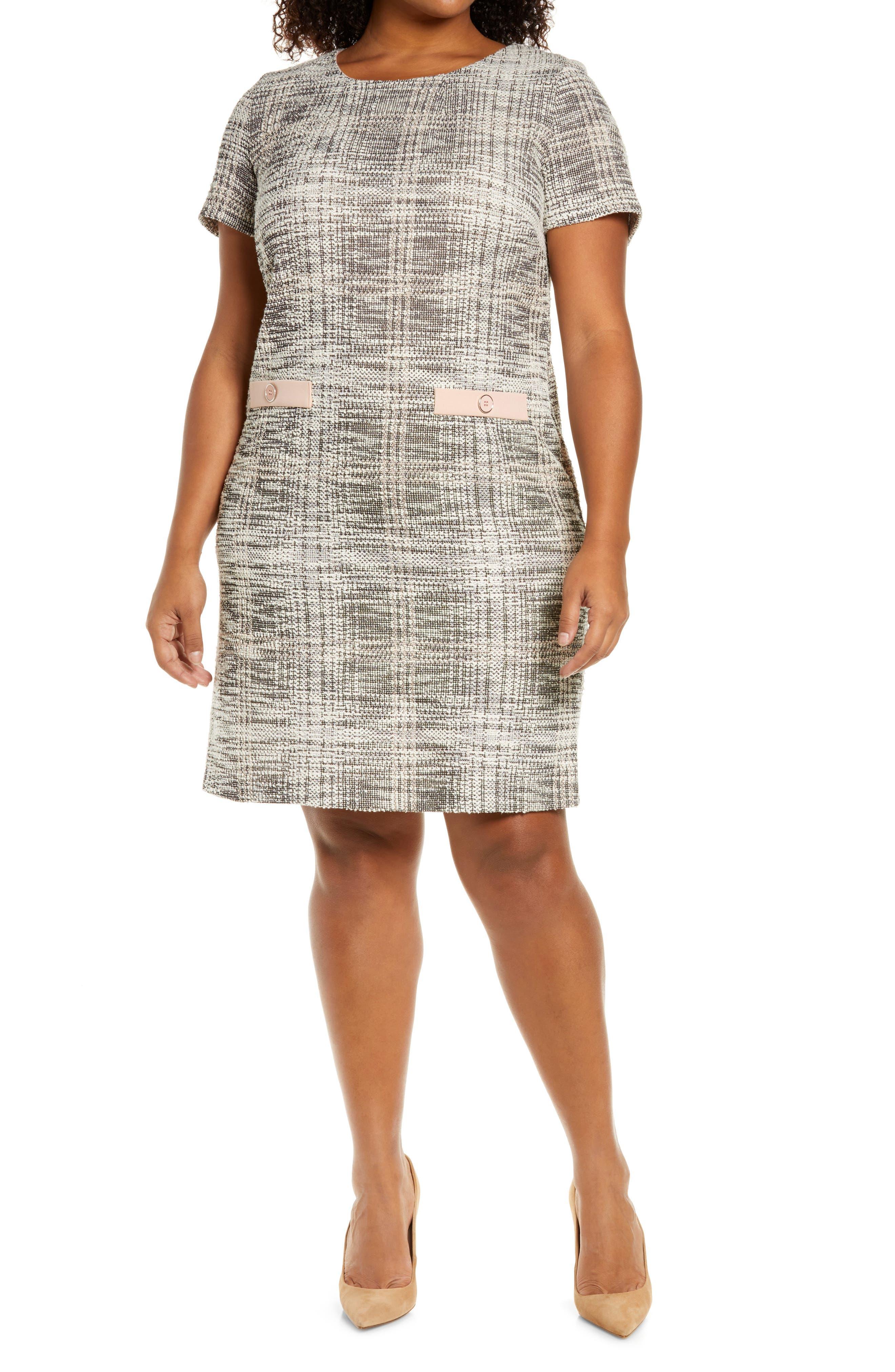 Nora Tweed Pocket Detail Dress