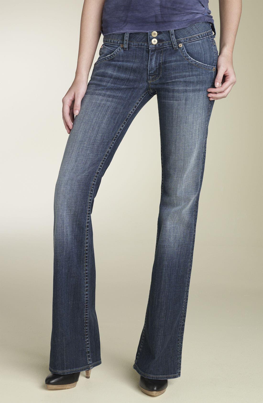 ,                             Signature Flap Pocket Bootcut Jeans,                             Main thumbnail 54, color,                             463