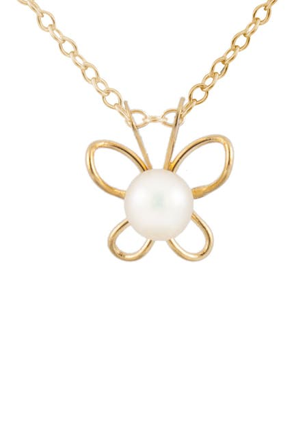Image of Splendid Pearls 14K Gold Freshwater Pearl Pendant Necklace