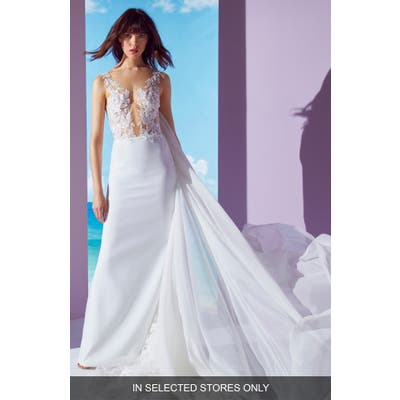 Ines By Ines Di Santo Nadja Column Gown, Size IN STORE ONLY - Ivory