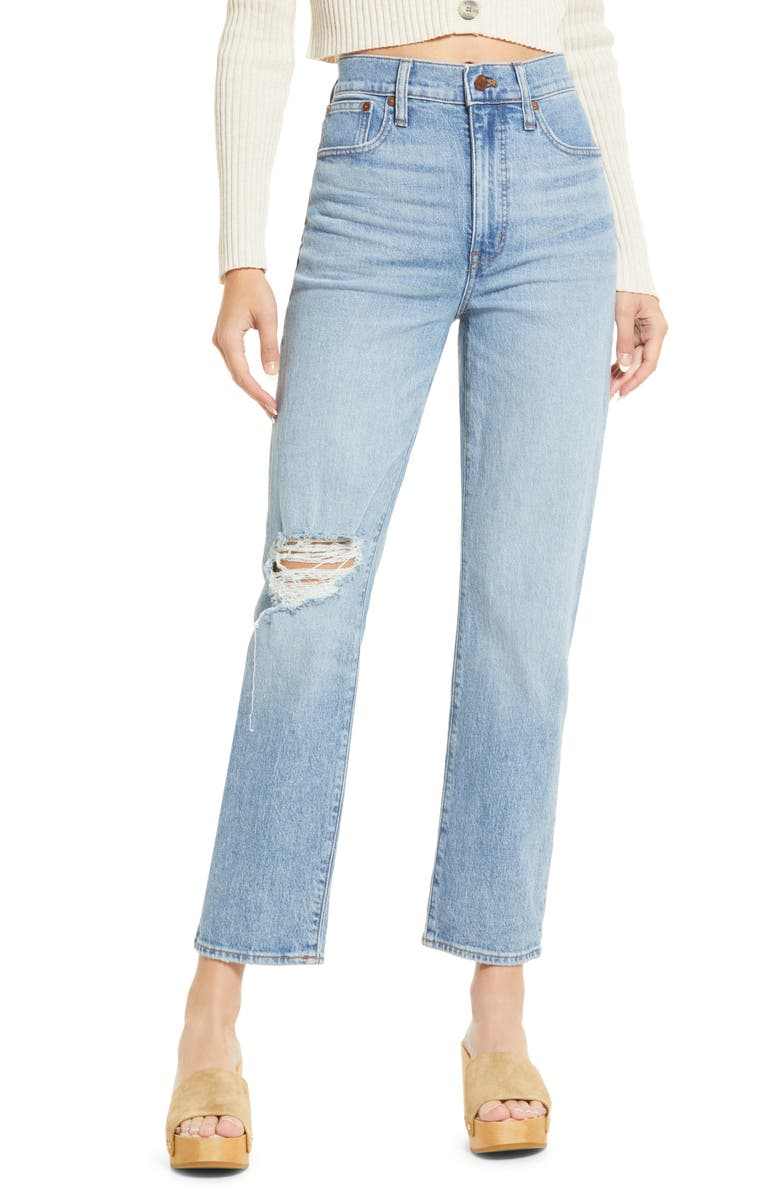 MADEWELL The Perfect Vintage Full Length Straight Leg Jeans, Main, color, REINHART