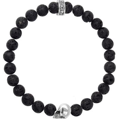 King Baby Lava Rock Bead Bracelet