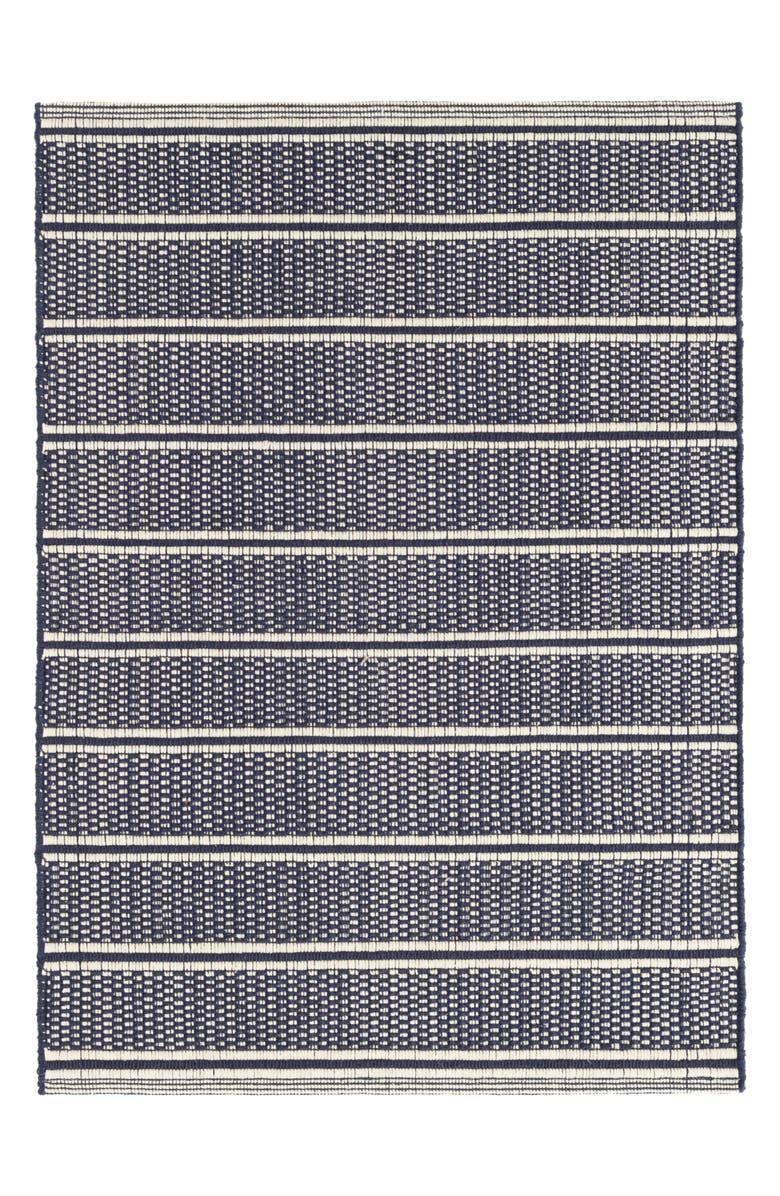 DASH & ALBERT Archer Woven Cotton Rug, Main, color, NAVY