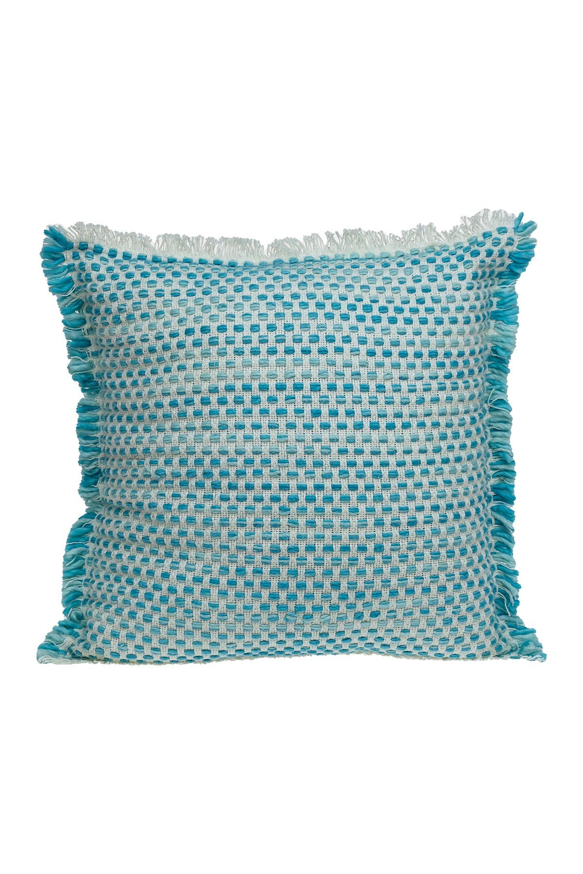 Image of Parkland Collection Raindrop Transitional Light Blue & Turquoise Throw Pillow