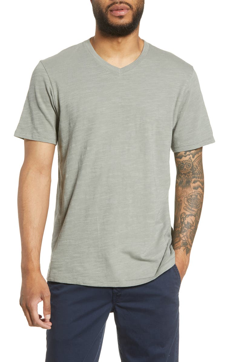 RAG & BONE Slub V-Neck T-Shirt, Main, color, 020