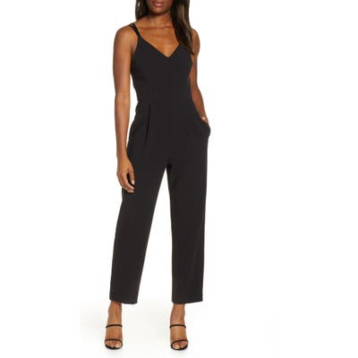 French Connection Anana Whisper Crop Jumpsuit, Black
