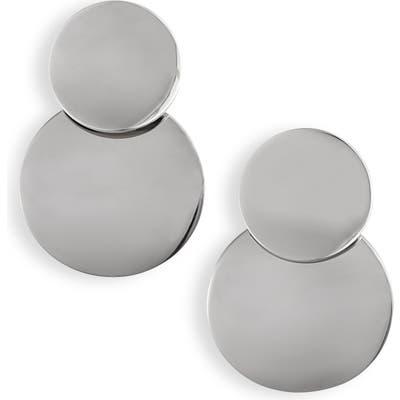Knotty Double Disc Drop Earrings
