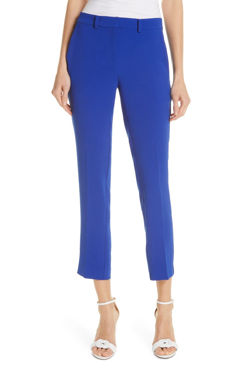 BA&SH Pody Crepe Trousers, Main, color, BLEUKLEIN