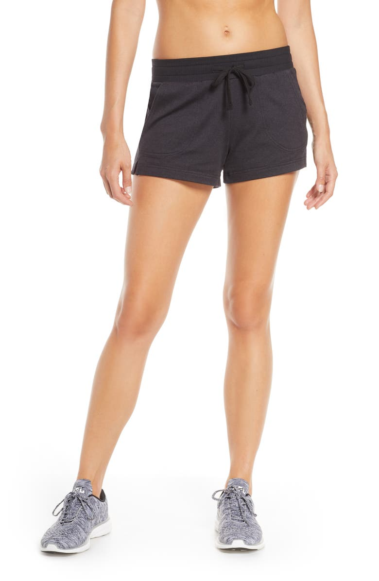 ZELLA Zellness Shorts, Main, color, BLACK CROSSDYE