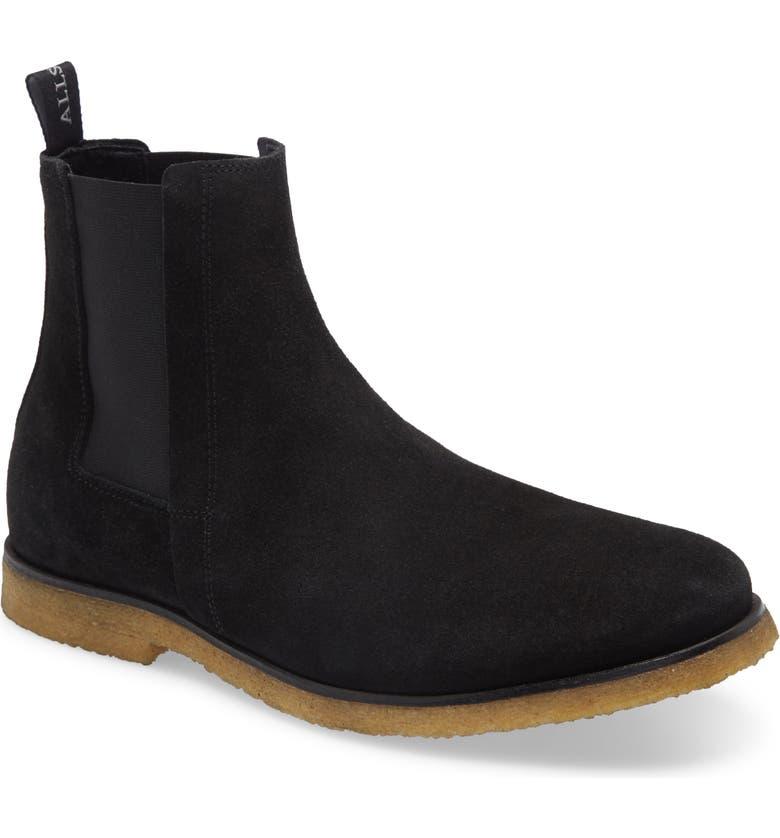 ALLSAINTS Rhett Chelsea Boot, Main, color, BLACK