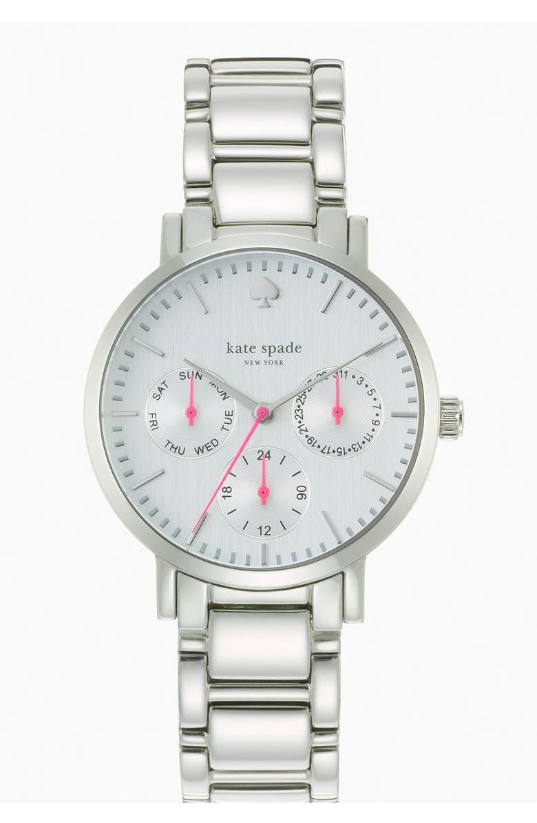KATE SPADE NEW YORK 'gramercy' multifunction bracelet watch, 34mm, Main, color, 040