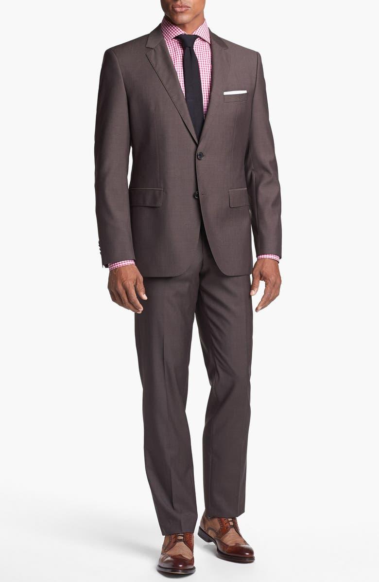 ZZDNUHUGO BOSS BOSS HUGO BOSS 'James/Sharp' Trim Fit Wool Suit, Main, color, 202