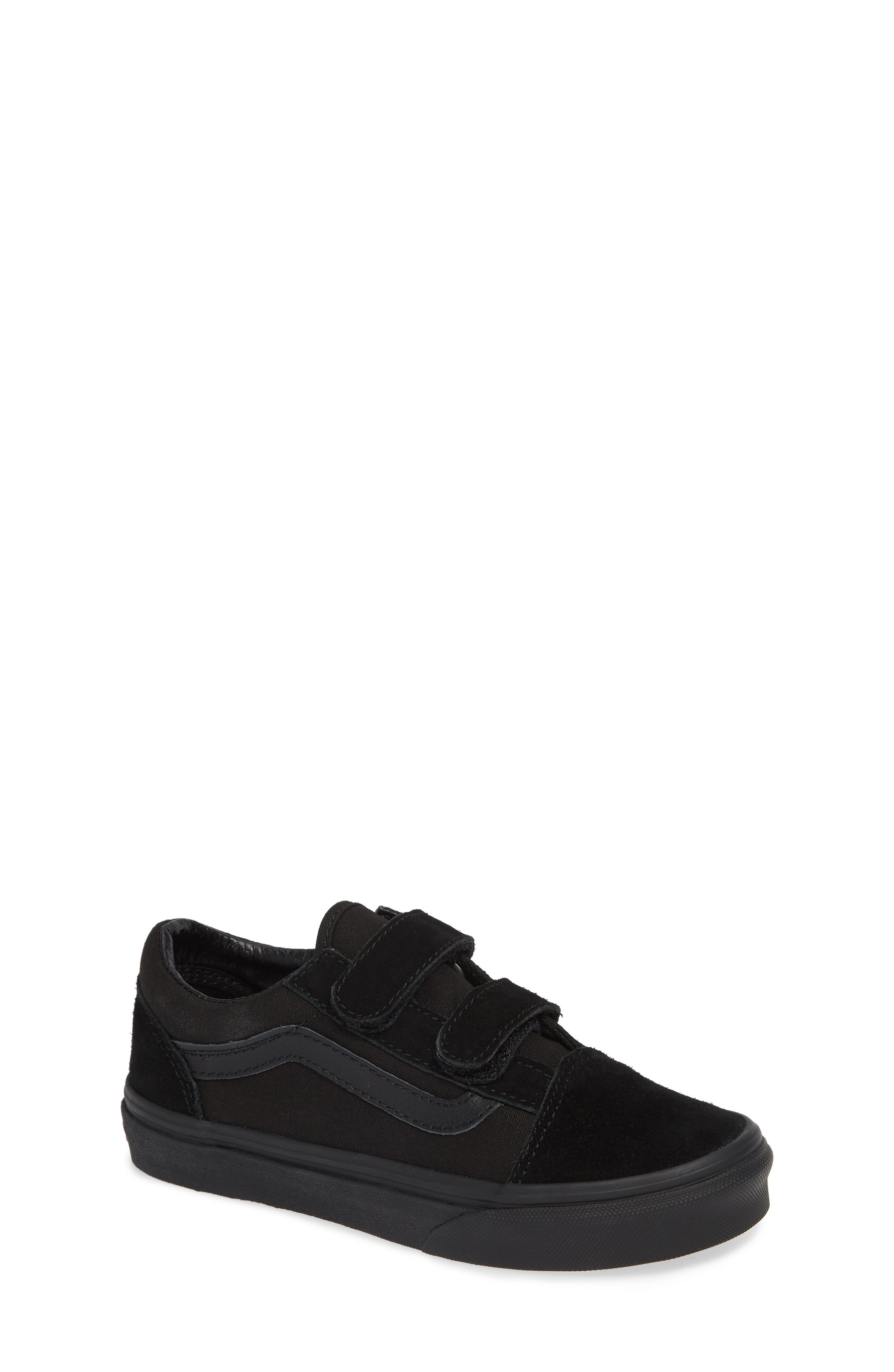 Toddler Boys Vans Old Skool V Sneaker Size 11 M  Black