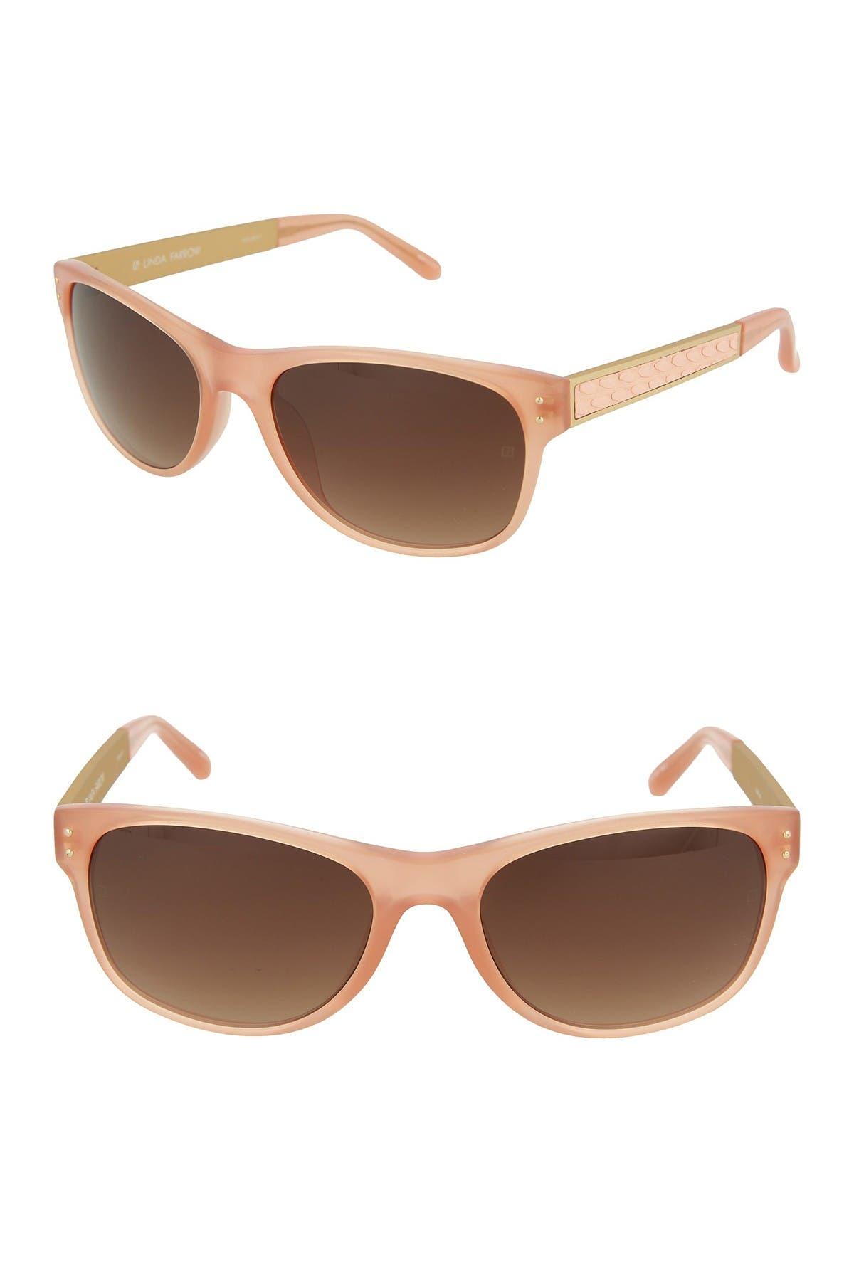 Image of Linda Farrow 55mm Oval Sunglasses