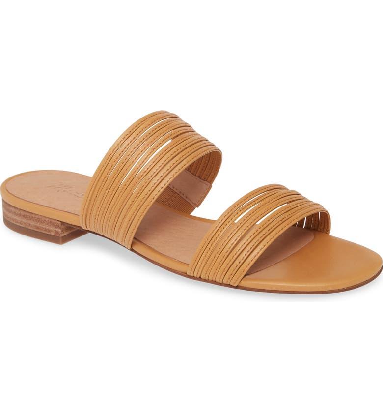 MADEWELL The Meg Slide Sandal, Main, color, DESERT CAMEL LEATHER