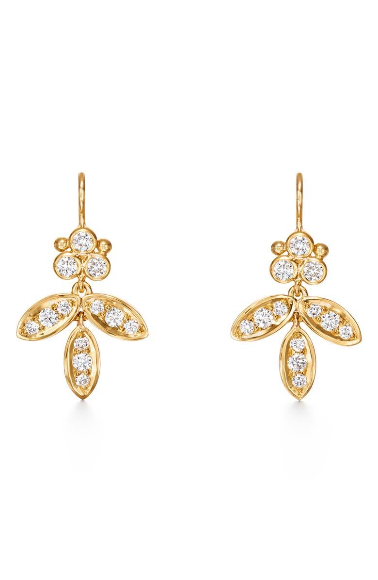 TEMPLE ST. CLAIR Foglia Diamond Pavé Earrings, Main, color, 710