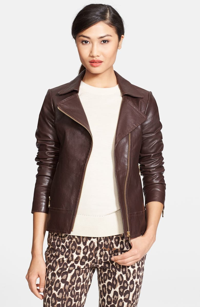 02473df0a kate spade new york 'linnea' leather jacket | Nordstrom