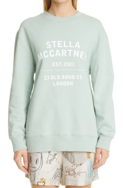 Stella Mccartney 23 OBS LOGO ORGANIC COTTON SWEATSHIRT