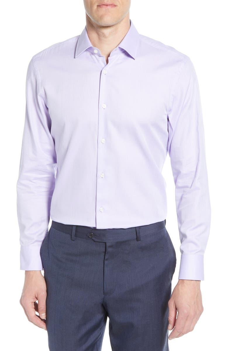BOSS Marley Sharp Fit Dress Shirt, Main, color, LAVENDER