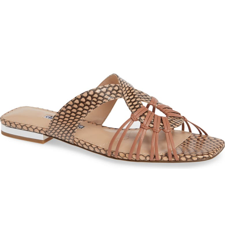 CHARLES DAVID Silvy Sandal, Main, color, PETAL SNAKE PRINT LEATHER