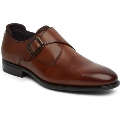 Kenneth Cole Reaction Edge Flex Monk Strap Shoe, Brown