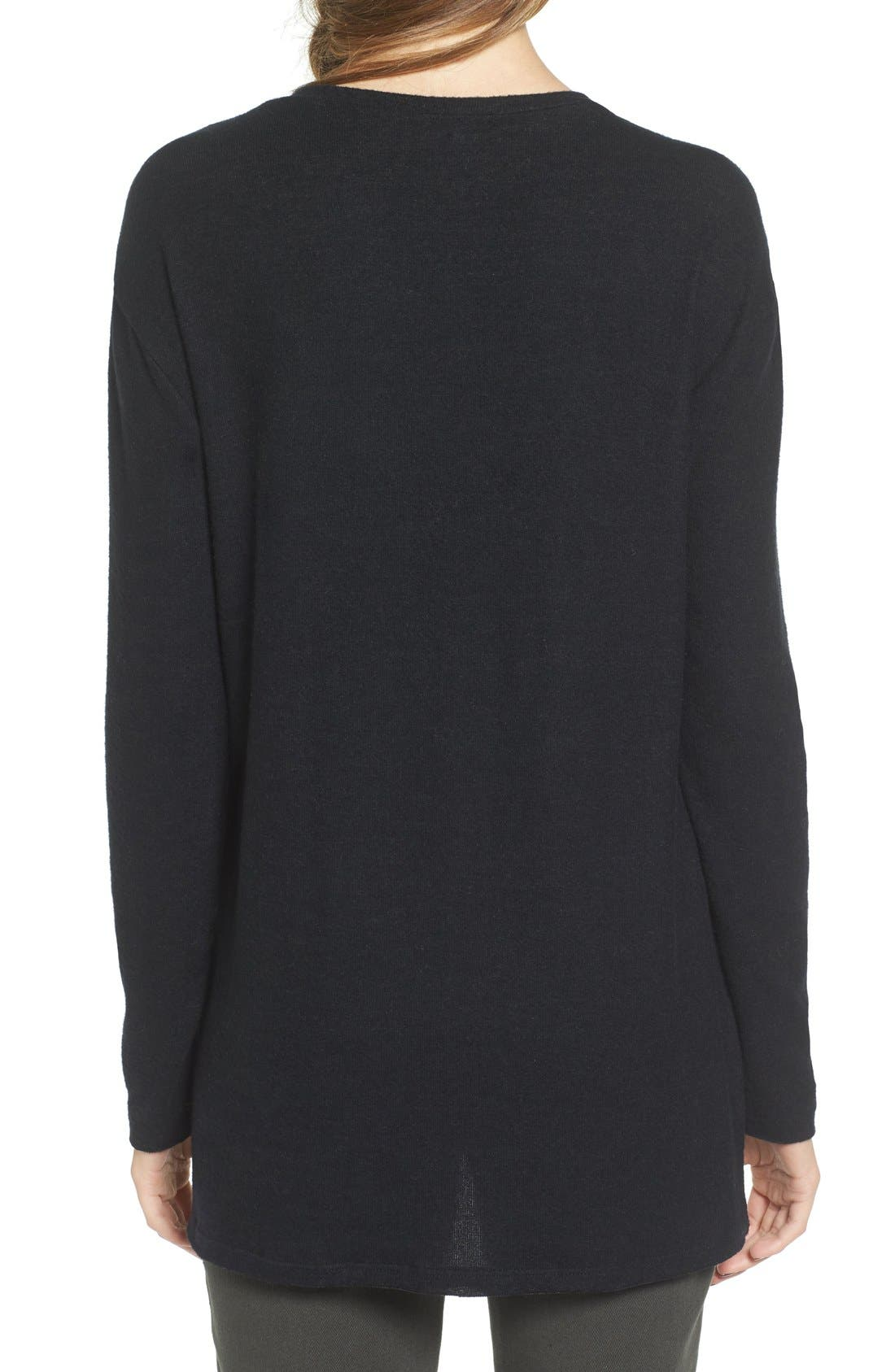 ,                             Cozy V-Neck Sweater,                             Alternate thumbnail 38, color,                             001