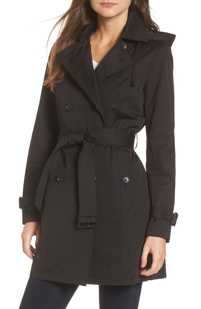 MICHAEL MICHAEL KORS Belted Parka Jacket, Main, color, 001