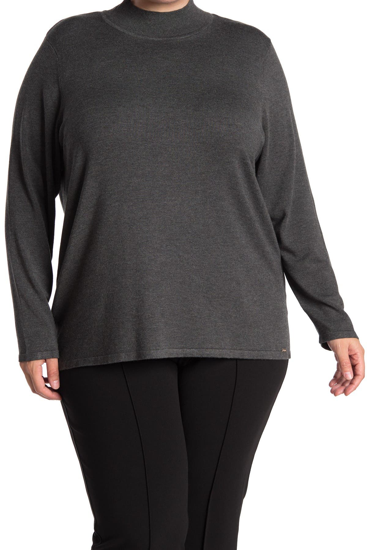 Image of T Tahari Mock Neck Pullover Sweater
