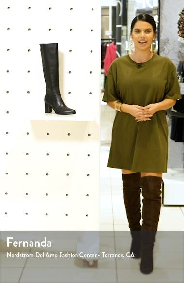 Tessa Water Resistant Knee High Boot, sales video thumbnail