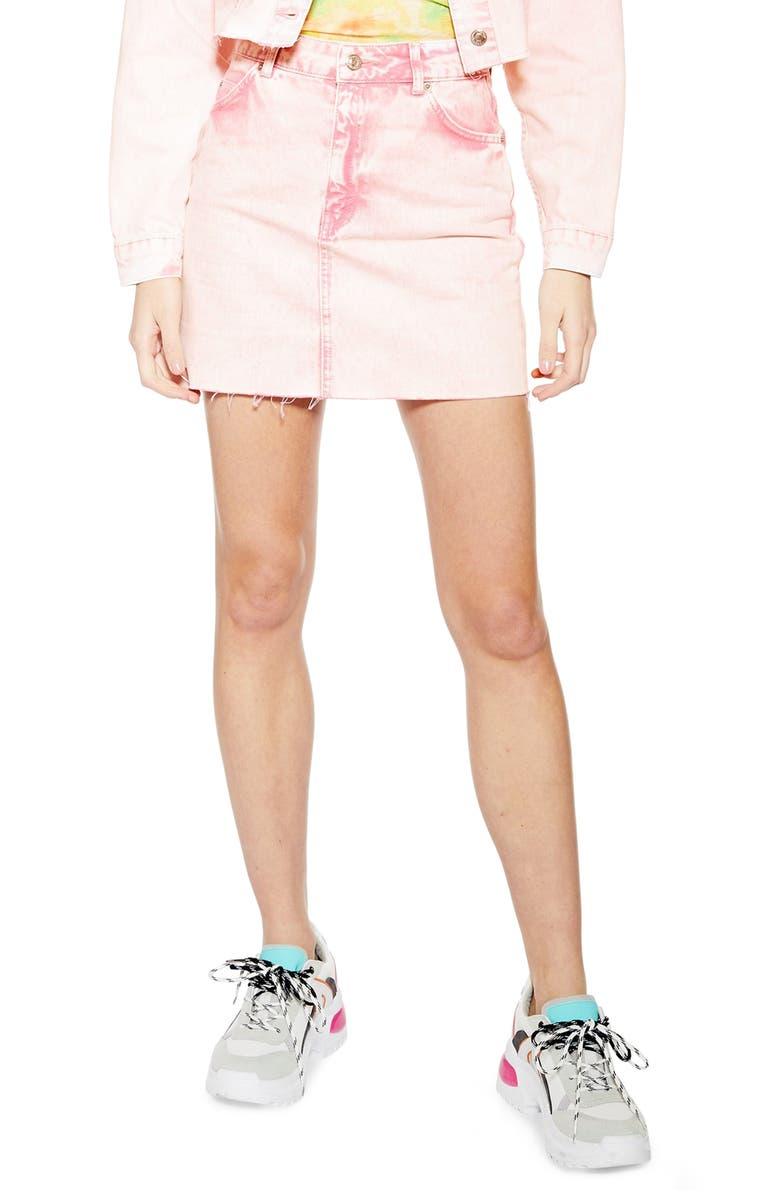 46b20fa3de Topshop Acid Wash Denim Skirt | Nordstrom