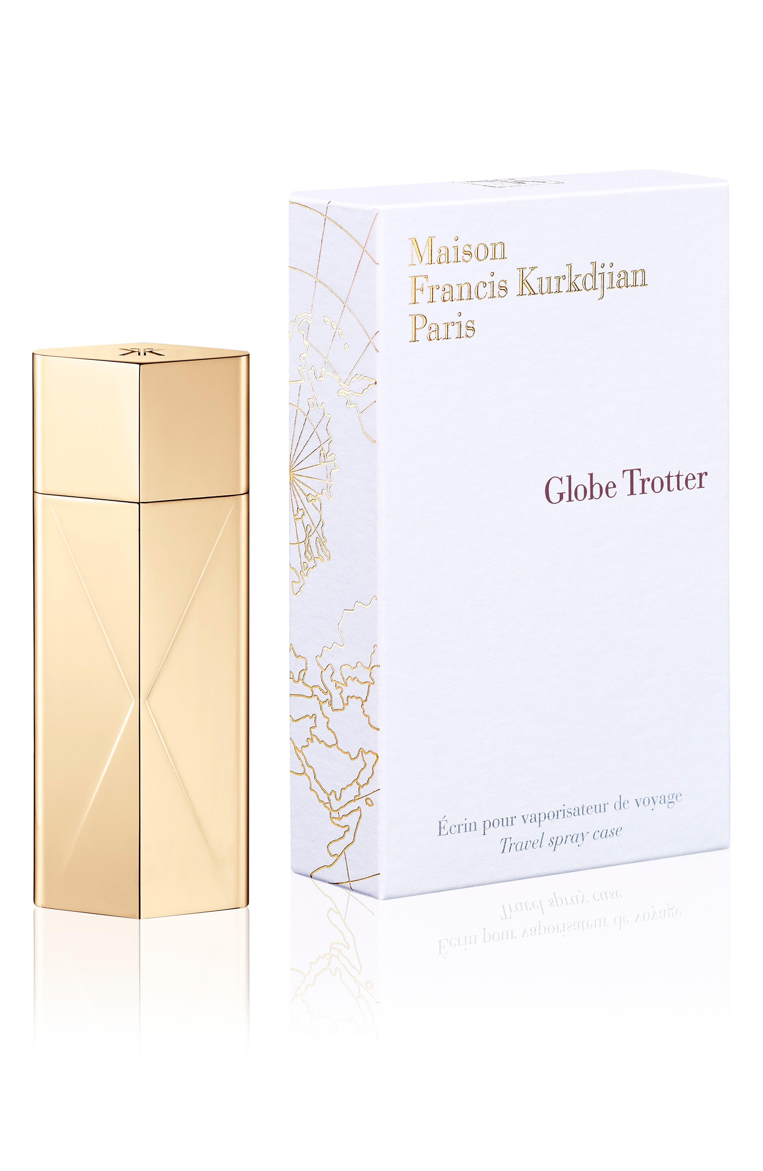 Paris Globe Trotter Gold Travel Spray Case