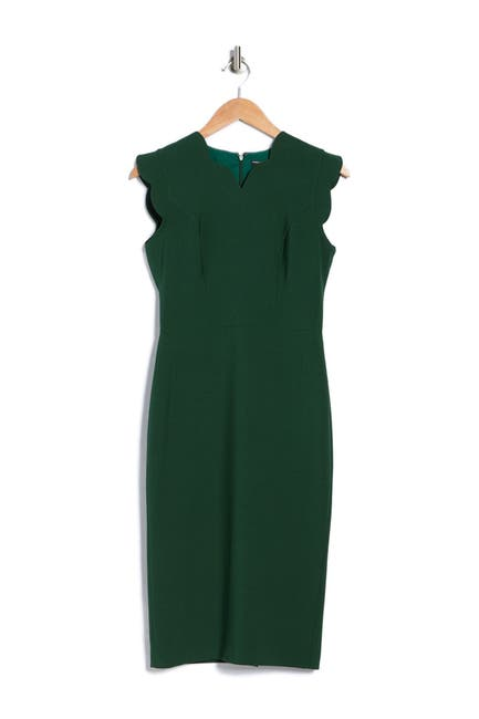 Image of Maggy London Scallop Sheath Dress