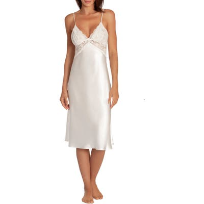 In Bloom By Jonquil Say Yes Satin & Lace Nightgown, Ivory
